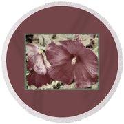 Hibiscus Floral Series  Round Beach Towel