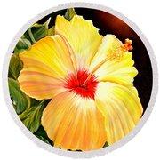 Hibiscus Glory Round Beach Towel