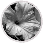 Hibiscus With An Infrared Effect Round Beach Towel