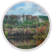Hickory Forest Round Beach Towel