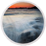 Hidden Beneath The Tides Round Beach Towel