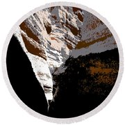 Hidden Canyon Round Beach Towel