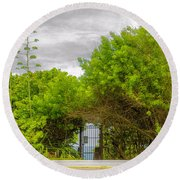 Hidden Gate II Round Beach Towel