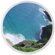 Hidden Kilauea Beach Round Beach Towel
