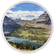 Hidden Lake Overlook Round Beach Towel