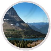 Hidden Lake - Glacier National Park Round Beach Towel