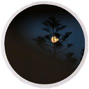 Hidden Moon Round Beach Towel