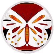 Hidden Possibilities And Abstract Butterflies By Omashte Round Beach Towel