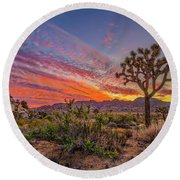 Hidden Valley Sunset Round Beach Towel