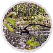 Hide And Seek Ducks Round Beach Towel