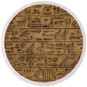 Hieroglyph Round Beach Towel