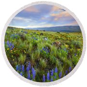 High Desert Spring Round Beach Towel by Mike  Dawson