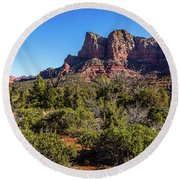 High Desert View Round Beach Towel