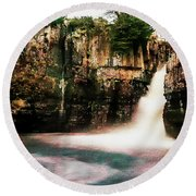High Force With A Watercolour Effect. Round Beach Towel