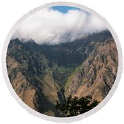 High In The Andes Round Beach Towel