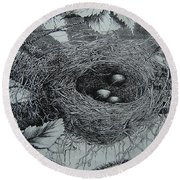 High In The Trees Round Beach Towel