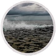 High Low Tide Round Beach Towel