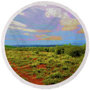 High Mesa Path Round Beach Towel