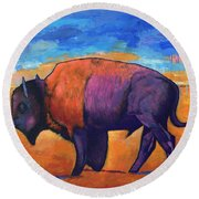 High Plains Drifter Round Beach Towel