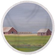 High Plains Round Beach Towel