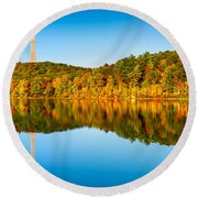High Point Monument Round Beach Towel