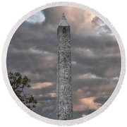 High Point Monument Sussex County New Jersey Round Beach Towel