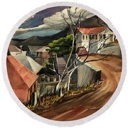 High Road At Jerome Round Beach Towel