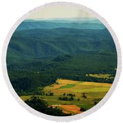 High Rocks Overlook  Round Beach Towel
