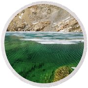 High Sierra Tarn Round Beach Towel