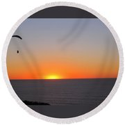 Higher Than The Sun Round Beach Towel