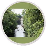Highforce Waterfall Round Beach Towel