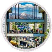 Highland And Hollywood C Round Beach Towel