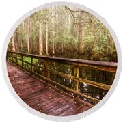 Highlands Hammock Round Beach Towel