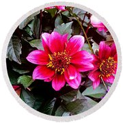 Highlands Ranch Floral Study 1 Round Beach Towel