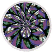 Highrise Kaleidoscope Round Beach Towel