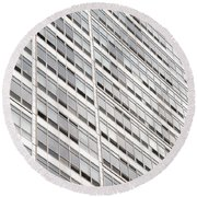 Highrise Round Beach Towel by Nancy Ingersoll