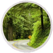 Highway Curve Round Beach Towel