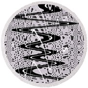 Highway Through The Wormhole Round Beach Towel