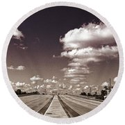 Highway To Paradise Round Beach Towel