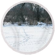 Highways And Byways Round Beach Towel