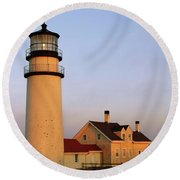 Higland Lighthouse Cape Cod Round Beach Towel