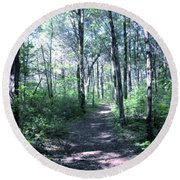 Hike In The Park Round Beach Towel