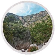 Hiking Guadalupe Round Beach Towel