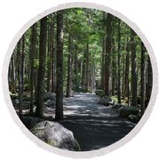 Hiking Trail At Brandywine Falls Provincial Park Round Beach Towel