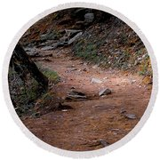Hiking Trail To Abrams Falls Round Beach Towel by DigiArt Diaries by Vicky B Fuller