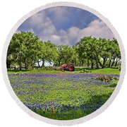 Hill Country Farming Round Beach Towel