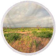 Hill Country Memories Round Beach Towel