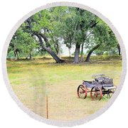 hill country Texas  Round Beach Towel