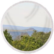 Hill Country View Round Beach Towel