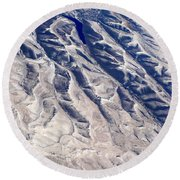 Hills And Valleys Aerial Round Beach Towel
